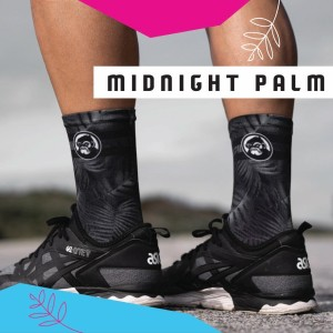 Grumpy Monkey Midnight Palm Socks