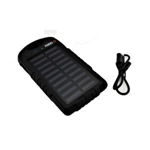 RED-E POWER BANK RS40 4K MAH BLACK SOLAR+LED PANEL